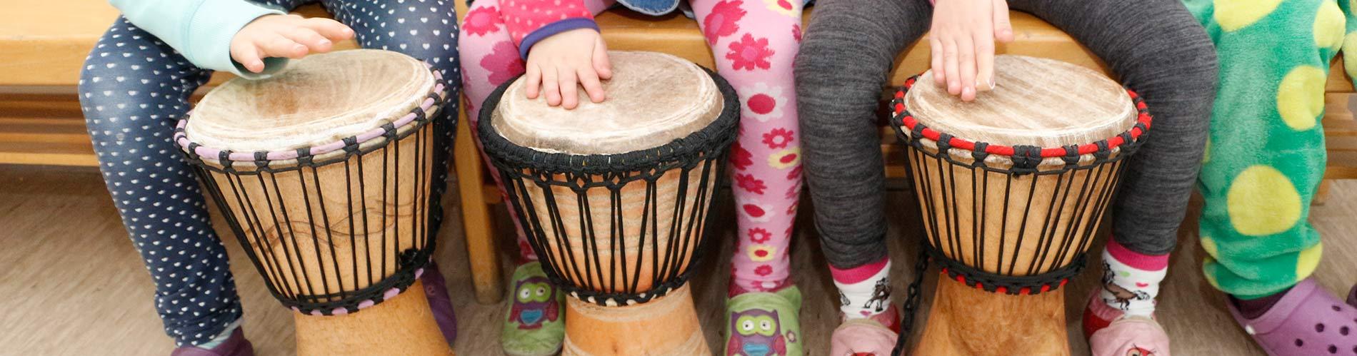 Djembe-Trommeln für den Kindergarten
